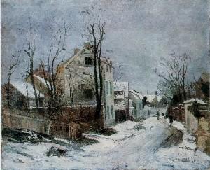 Iarna la Barbizon, de Ion Andreescu