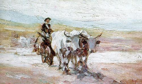 Nicolae Grigorescu ~ Car cu boi