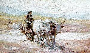 Nicolae Grigorescu, 'Car cu boi'