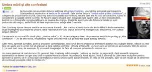 Umbra mării şi alte confesiuni, pe Citatepedia.ro